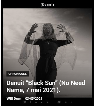 review denuit black sun album